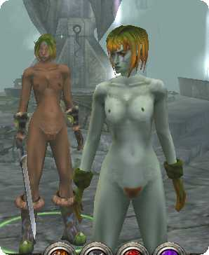 Dungeon Siege 2/ Dryad nude and topless armor