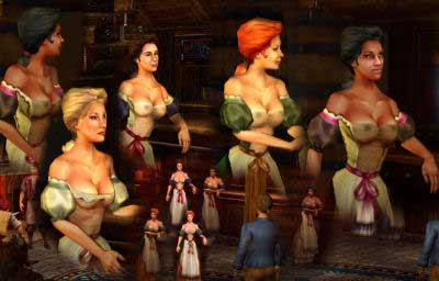 Sid Meiers Pirates!/ Bargirls