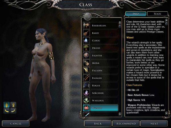 Neverwinter Nights 2/ FrozenColds Nude contribution