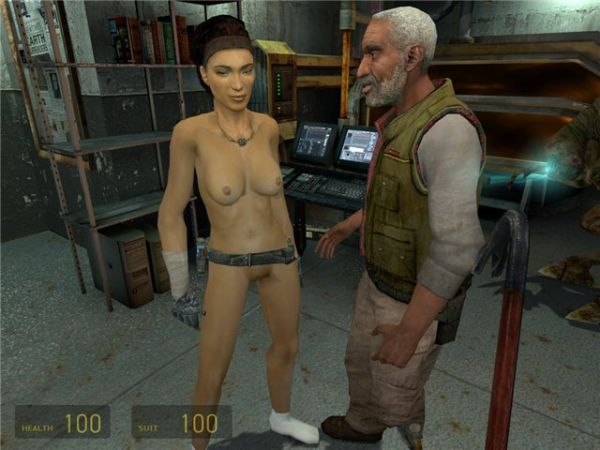 Half-Life 2/ Alyx nude mod with shiny fix