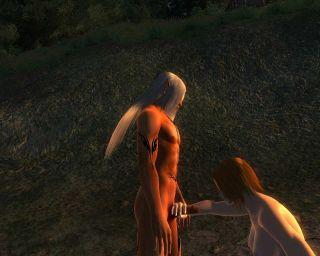 Kendos Demon Consort MATURE и Triss blowjob animation